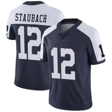 Youth Nike Dallas Cowboys Roger Staubach Navy Alternate Vapor Untouchable Jersey - Limited