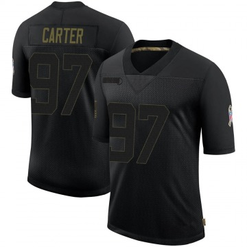 Youth Nike Dallas Cowboys Ron'Dell Carter Black 2020 Salute To Service Jersey - Limited