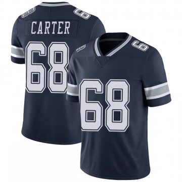 Youth Nike Dallas Cowboys Ron'Dell Carter Navy 100th Vapor Jersey - Limited