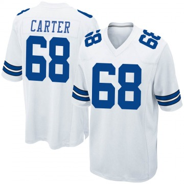 Youth Nike Dallas Cowboys Ron'Dell Carter White Jersey - Game