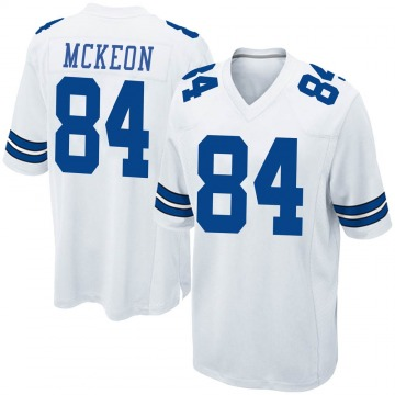 Youth Nike Dallas Cowboys Sean McKeon White Jersey - Game