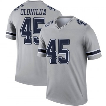 Youth Nike Dallas Cowboys Sewo Olonilua Gray Inverted Jersey - Legend
