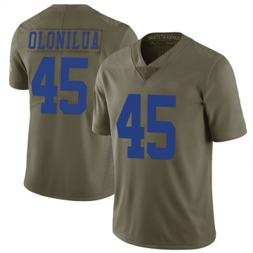 Youth Nike Dallas Cowboys Sewo Olonilua Green 2017 Salute to Service Jersey - Limited