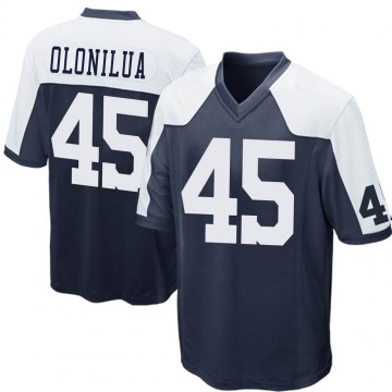 Youth Nike Dallas Cowboys Sewo Olonilua Navy Blue Throwback Jersey - Game