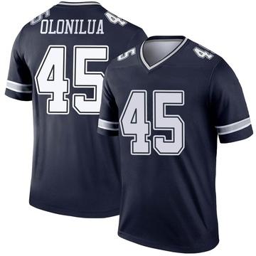 Youth Nike Dallas Cowboys Sewo Olonilua Navy Jersey - Legend