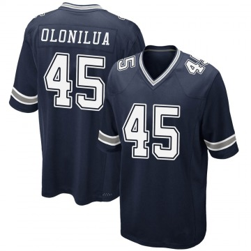 Youth Nike Dallas Cowboys Sewo Olonilua Navy Team Color Jersey - Game