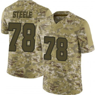Youth Nike Dallas Cowboys Terence Steele Camo 2018 Salute to Service Jersey - Limited