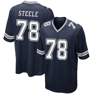 Youth Nike Dallas Cowboys Terence Steele Navy Team Color Jersey - Game