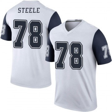 Youth Nike Dallas Cowboys Terence Steele White Color Rush Jersey - Legend