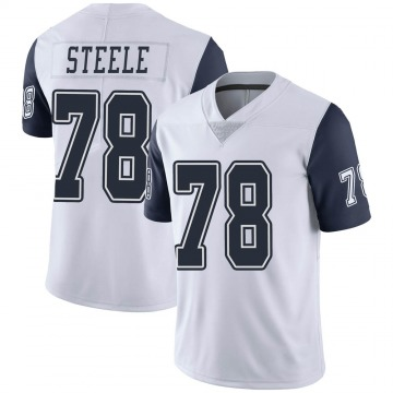 Youth Nike Dallas Cowboys Terence Steele White Color Rush Vapor Untouchable Jersey - Limited