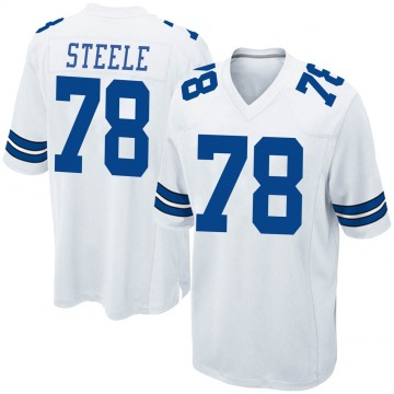 Youth Nike Dallas Cowboys Terence Steele White Jersey - Game