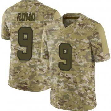 Youth Nike Dallas Cowboys Tony Romo Camo 2018 Salute to Service Jersey - Limited