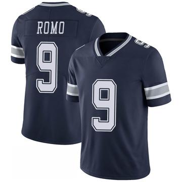 Youth Nike Dallas Cowboys Tony Romo Navy 100th Vapor Jersey - Limited
