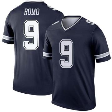 Youth Nike Dallas Cowboys Tony Romo Navy Jersey - Legend