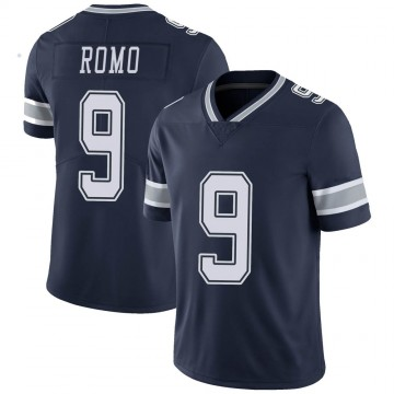 Youth Nike Dallas Cowboys Tony Romo Navy Team Color Vapor Untouchable Jersey - Limited