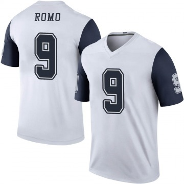 Youth Nike Dallas Cowboys Tony Romo White Color Rush Jersey - Legend
