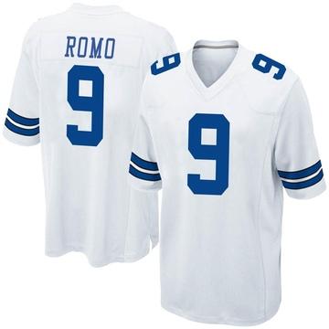 Youth Nike Dallas Cowboys Tony Romo White Jersey - Game