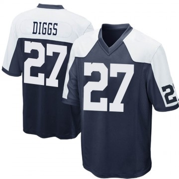 Youth Nike Dallas Cowboys Trevon Diggs Navy Blue Throwback Jersey - Game