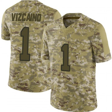 Youth Nike Dallas Cowboys Tristan Vizcaino Camo 2018 Salute to Service Jersey - Limited