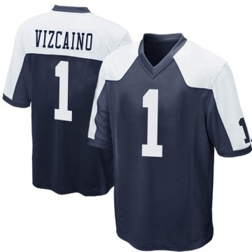 Youth Nike Dallas Cowboys Tristan Vizcaino Navy Blue Throwback Jersey - Game