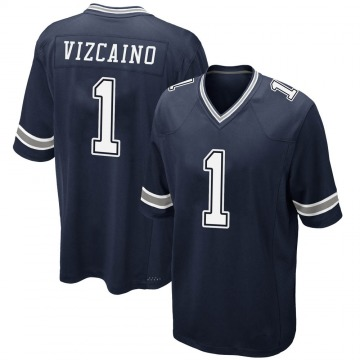 Youth Nike Dallas Cowboys Tristan Vizcaino Navy Team Color Jersey - Game