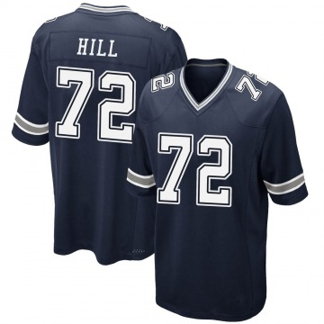 Youth Nike Dallas Cowboys Trysten Hill Navy Team Color Jersey - Game