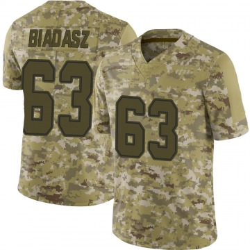 Youth Nike Dallas Cowboys Tyler Biadasz Camo 2018 Salute to Service Jersey - Limited