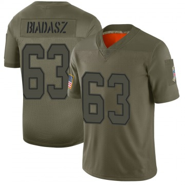 Youth Nike Dallas Cowboys Tyler Biadasz Camo 2019 Salute to Service Jersey - Limited