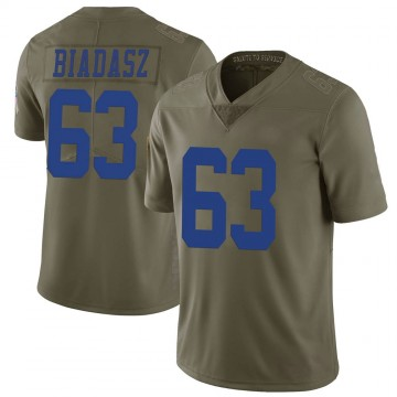 Youth Nike Dallas Cowboys Tyler Biadasz Green 2017 Salute to Service Jersey - Limited