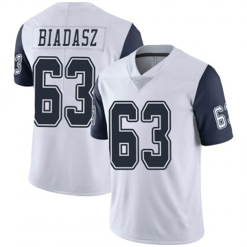 Youth Nike Dallas Cowboys Tyler Biadasz White Color Rush Vapor Untouchable Jersey - Limited