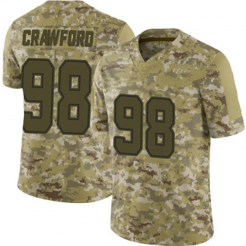 Youth Nike Dallas Cowboys Tyrone Crawford Camo 2018 Salute to Service Jersey - Limited