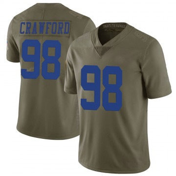 Youth Nike Dallas Cowboys Tyrone Crawford Green 2017 Salute to Service Jersey - Limited