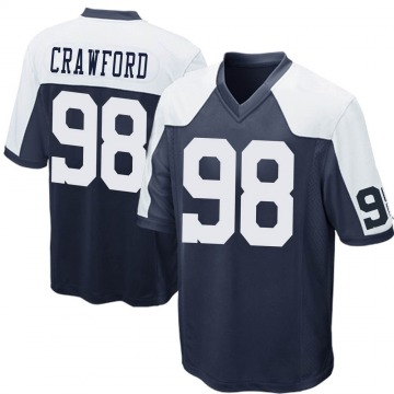 Youth Nike Dallas Cowboys Tyrone Crawford Navy Blue Throwback Jersey - Game