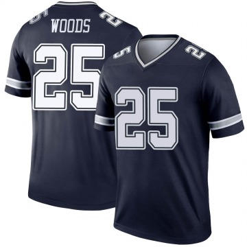 Youth Nike Dallas Cowboys Xavier Woods Navy Jersey - Legend
