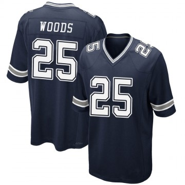 Youth Nike Dallas Cowboys Xavier Woods Navy Team Color Jersey - Game