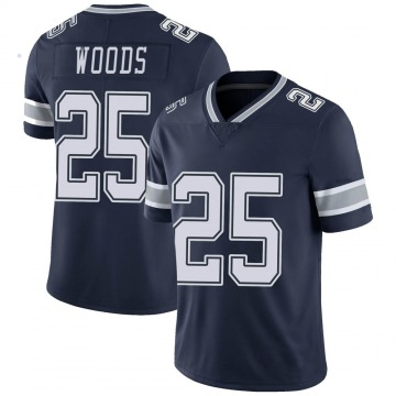 Youth Nike Dallas Cowboys Xavier Woods Navy Team Color Vapor Untouchable Jersey - Limited