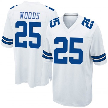 Youth Nike Dallas Cowboys Xavier Woods White Jersey - Game