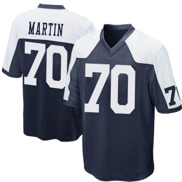Youth Nike Dallas Cowboys Zack Martin Navy Blue Throwback Jersey - Game