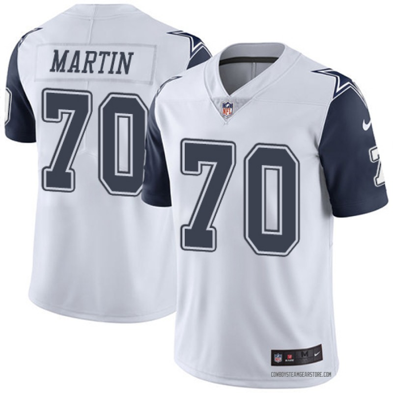 wholesale dealer 2391c 9b5ef Youth Nike Dallas Cowboys Zack Martin White Color Rush Jersey - Limited